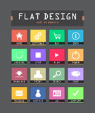 Flat ui icons. Special flat ui icons for web and mobile applications Royalty Free Stock Photos