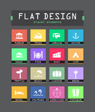 Flat ui icons Royalty Free Stock Photo