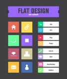 Flat ui icons Royalty Free Stock Image