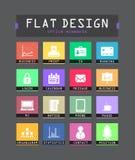Flat ui icons Royalty Free Stock Photos