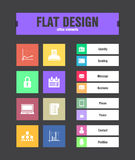 Flat ui icons Stock Photography