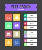 Flat ui icons Stock Photography