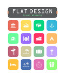 Flat ui icons Stock Images