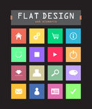 Flat ui icons. Special flat ui icons for web and mobile applications Royalty Free Stock Photography