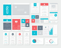 Flat Ui Infographics Vector Kit. Mobile Data Visualization Pack. Royalty Free Stock Photo