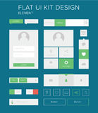 Flat ui kit design elements set for webdesign Royalty Free Stock Images