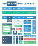 Flat ui kit design elements for webdesign Stock Image