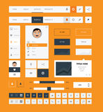 Flat ui kit design elements for webdesign Stock Photo