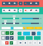 Flat ui kit design elements for webdesign Stock Images
