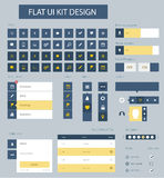 Flat ui kit design elements for website template Royalty Free Stock Images