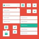 Flat ui kit design menu bar for movie website Royalty Free Stock Photography