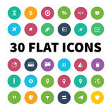 Flat ui kit pack icons for webdesign or mobile design Stock Photo
