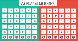 Flat ui kit set icons for webdesign Stock Photo