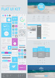 Flat UI Kit for Web and Mobile. Vector Flat UI Kit for Web and Mobile Royalty Free Stock Images