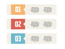Flat UI Modern Style Minimalistic Banners Royalty Free Stock Photo