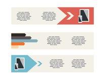 Flat UI Modern Style Minimalistic Banners Stock Photo