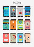 Flat Ui or UX mobile apps kit Stock Image