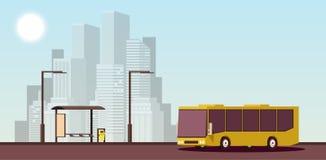 Flat Urban Concept of Public Transport. Vector Isometric Illustration. royalty free illustration