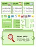 Flat user interface - green colour Stock Photos