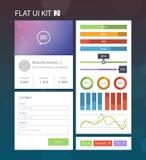 Flat User Interface Kit 2 Royalty Free Stock Photography