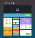 Flat User Interface Kit 3 Royalty Free Stock Image