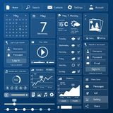 Flat user interface template Royalty Free Stock Image