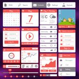 Flat user interface template Stock Photos