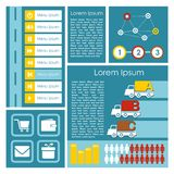 Flat user interface UI infographics template,  ill Royalty Free Stock Image
