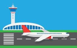 Flat vector airport Stock Photos