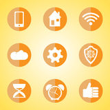 Flat. Vector Application  Web Icons Set in Flat Design Royalty Free Stock Photo
