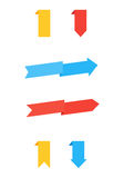 Flat vector arrows banners. Illustration set of colorful arrows Royalty Free Stock Photography