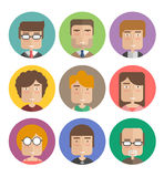 Flat vector avatar. Business people Royalty Free Stock Photography