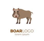 Flat vector boar logo Stock Image