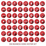 Flat vector business and construction red and white icons set. Modern flat design. Royalty Free Stock Image