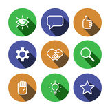 Flat vector business multicolored icons set Royalty Free Stock Photography