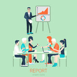 Flat vector business report and presentation Stock Photos