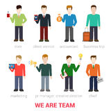 Flat vector businessmen company team staff people Stock Photography