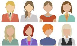 Flat vector characters Royalty Free Stock Photos
