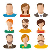 Flat vector characters. Good for avatars Stock Photo