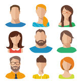 Flat vector characters. Good for avatars Stock Images