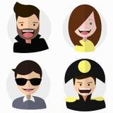 Flat vector characters set Stock Image