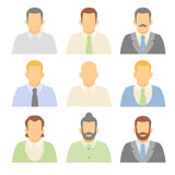 Flat vector characters. Vector avatars people. Vector portraits. Avatars business people stock illustration