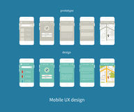 Flat vector collection of modern mobile phones Stock Images