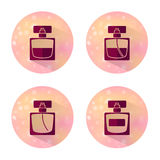 Flat vector cosmetics, beauty and makeup icons. Stock Photography