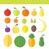 Flat vector elements for web design fruits and berries Stock Photo