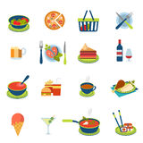 Flat vector food and drink infographic icon: restaurant menu Stock Photo