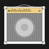 vector guitar amplifier stock illustration illustration of music 17659727. Black Bedroom Furniture Sets. Home Design Ideas