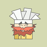 Flat vector icon of cute smiling chef from Stock Photography