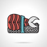 Flat vector icon for nigiri sushi Royalty Free Stock Photography