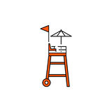 Flat vector icon Rescue tower Royalty Free Stock Images